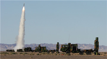 Missile brigade tests HQ-16 medium-range anti-aircraft missile systems
