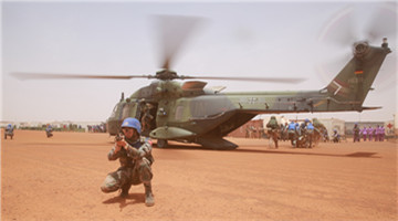 Chinese, German peacekeepers to Mali hold joint medical rescue drill