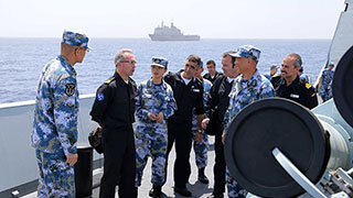 Chinese naval escort force meets with EU Combined Task Force 465