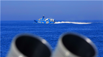Fast attack missile boats steam in East China Sea