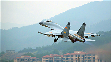 J-11 fighter jets in round-the-clock training