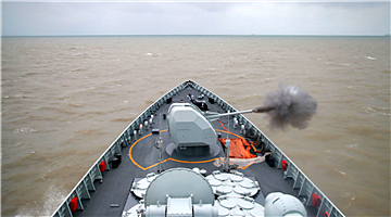 Frigates and destroyers steam in East China Sea