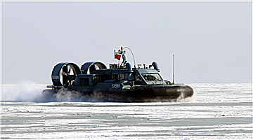 LACA patrols on icy water