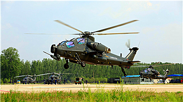 Attack helicopters lift off for training