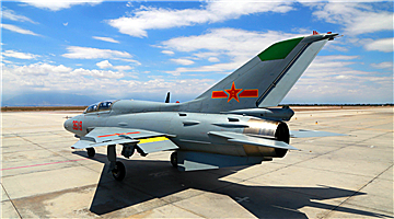 Pilot cadets fly JJ-7 fighter trainer airplanes