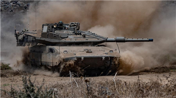 Israeli soldiers take part in drill on Israeli-occupied Golan Heights