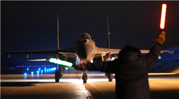 Su-27UBK fighter jet takes off for sortie