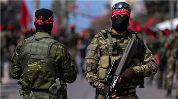 Military march held to mark 50th anniv. of founding of DFLP in Gaza City