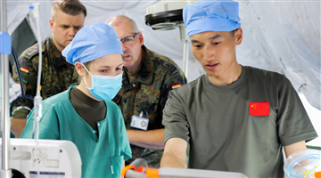 Chinese, German armed forces hold joint medical support drill