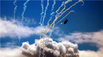 Multi-type attack helicopters fire rockets