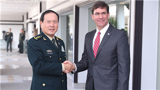 Chinese defense minister holds phone talk with US defense secretary