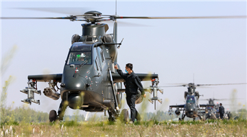 Helicopters lift off after thorough inspections