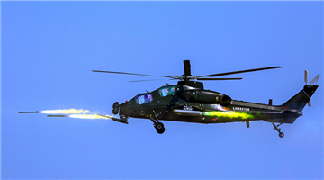 WZ-10 attack helicopters lift off
