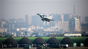 Ground targets hit by rockets fired by J-10 fighter